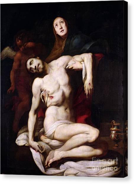 Crucify Canvas Print - The Pieta by Daniele Crespi