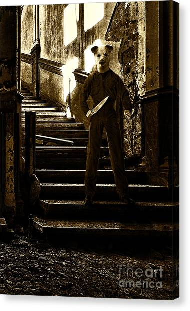 Resident Evil Canvas Print - The Pig by Milan Karadzic