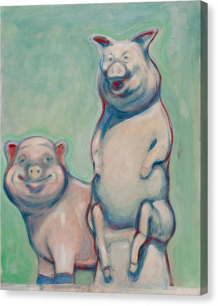 The Pigs Canvas Print