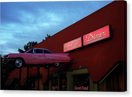 The Pink Cadillac Diner Canvas Print