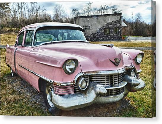 The Pink Cadillac II Canvas Print by Kathy Jennings
