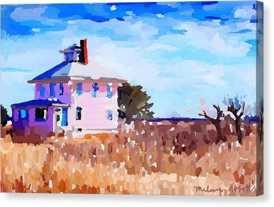 The Pink House, Newburyport, Ma. Canvas Print