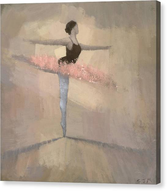 Woman Canvas Print - The Pink Tutu by Steve Mitchell