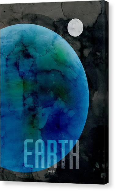 Outer Space Canvas Print - The Planet Earth by Michael Tompsett