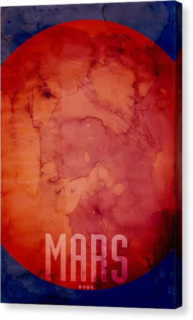Outer Space Canvas Print - The Planet Mars by Michael Tompsett
