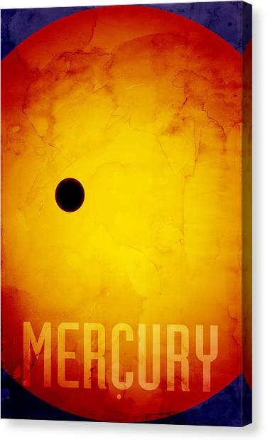 Outer Space Canvas Print - The Planet Mercury by Michael Tompsett