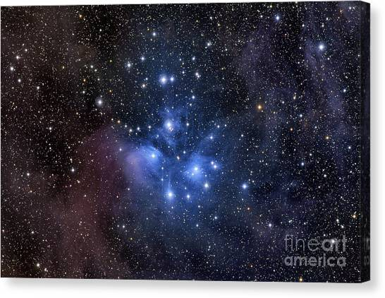 Canvas Print featuring the photograph The Pleiades, Also Known As The Seven by Roth Ritter
