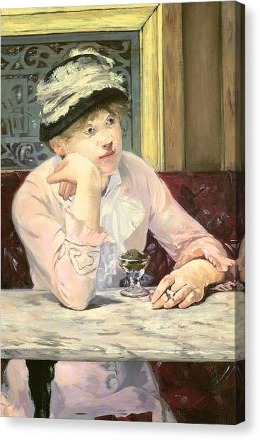 Chin Canvas Print - The Plum by Edouard Manet