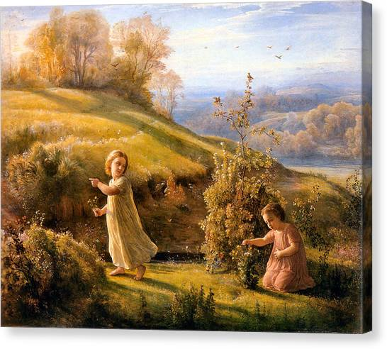 The Poem Of The Soul Spring Anne Francois Louis Janmot 1854. Canvas Print