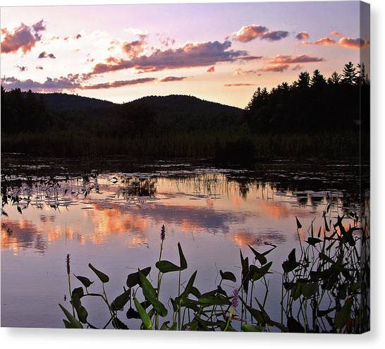 Canvas Print featuring the photograph The Poetry Of Twilight by Lynda Lehmann