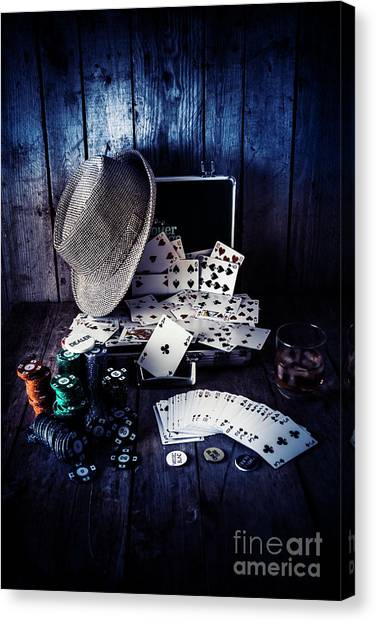 Wager Canvas Print - The Poker Ace by Jorgo Photography - Wall Art Gallery