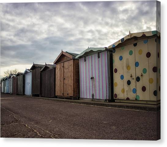 Beach Cabin Canvas Print - The Polka Dot Hut by Martin Newman