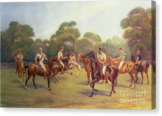 Polo Canvas Print - The Polo Match by C M  Gonne