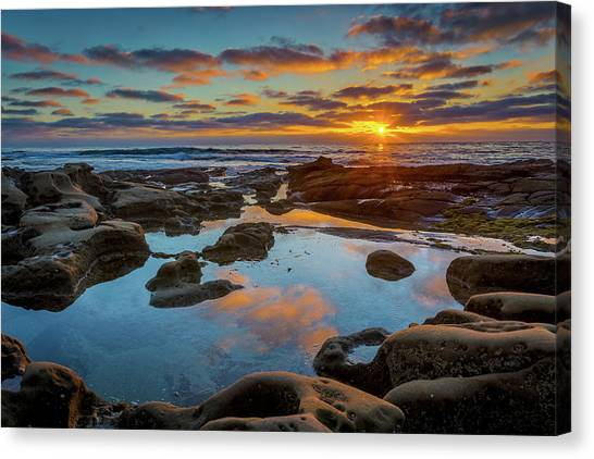 Surf Lifestyle Canvas Print - The Pool by Peter Tellone