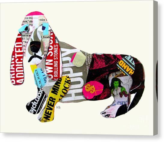 Dachshunds Canvas Print - The Pop Art Dachshund by Bri Buckley