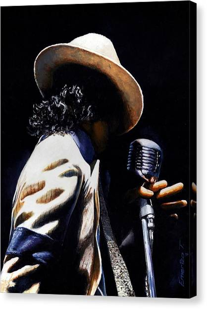 Michael Jackson Canvas Print - The Pop King by Emerico Imre Toth