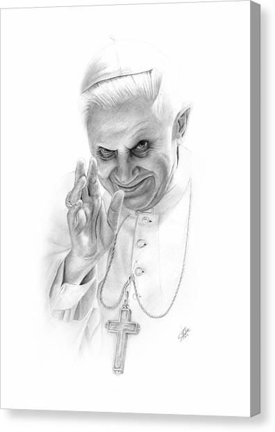 Atheism Canvas Print - The Pope by Christian Klute