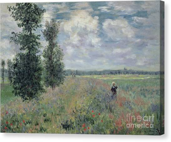 Painters Canvas Print - The Poppy Field by Claude Monet