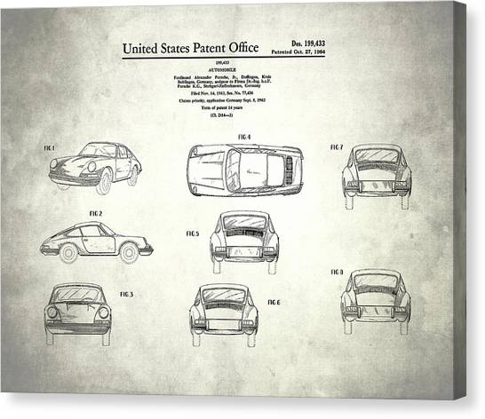 Car blueprint canvas prints page 4 of 25 pixels car blueprint canvas print the porsche 911 patent by mark rogan malvernweather Gallery