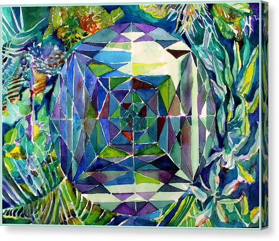 Tropical Stain Glass Canvas Print - The Portal by Mindy Newman