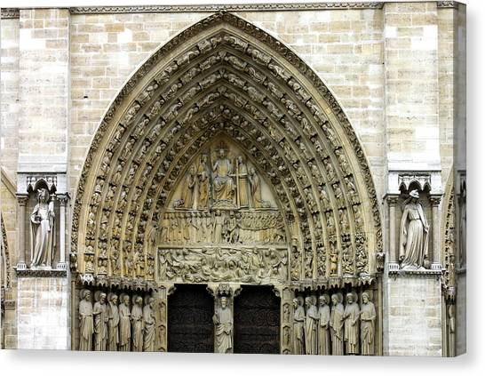 Portal Canvas Print - The Portal Of The Last Judgement Of Notre Dame De Paris by Fabrizio Troiani
