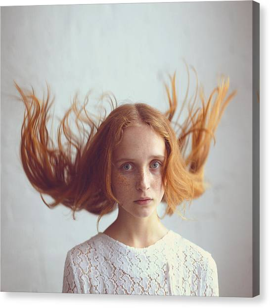 Ginger Canvas Print - the portrait of Olga by Anka Zhuravleva