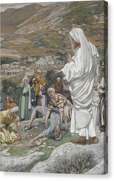 Israeli Canvas Print - The Possessed Boy At The Foot Of Mount Tabor by Tissot