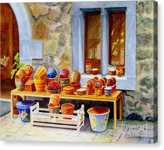 The Pottery Shop Canvas Print
