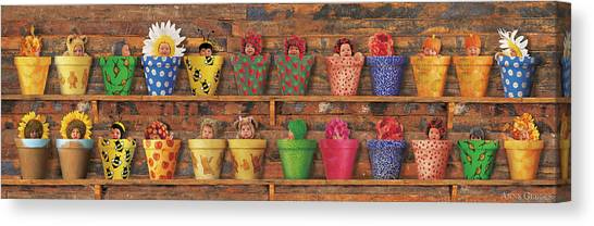 Canvas Print - The Potting Shed by Anne Geddes