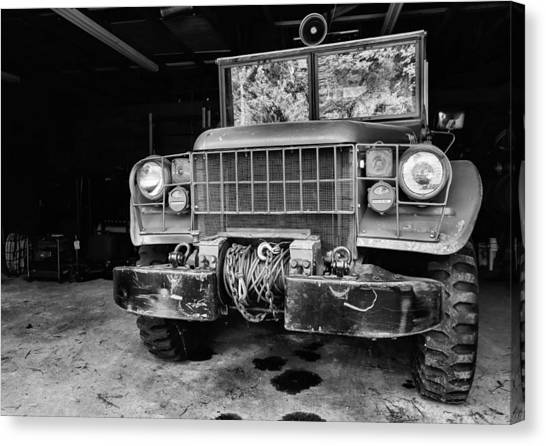 Volunteer Firefighter Canvas Print - The Power Wagon by JC Findley