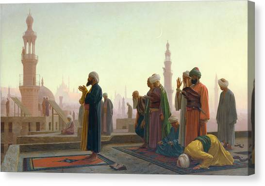 Muslim Canvas Print - The Prayer by Jean Leon Gerome
