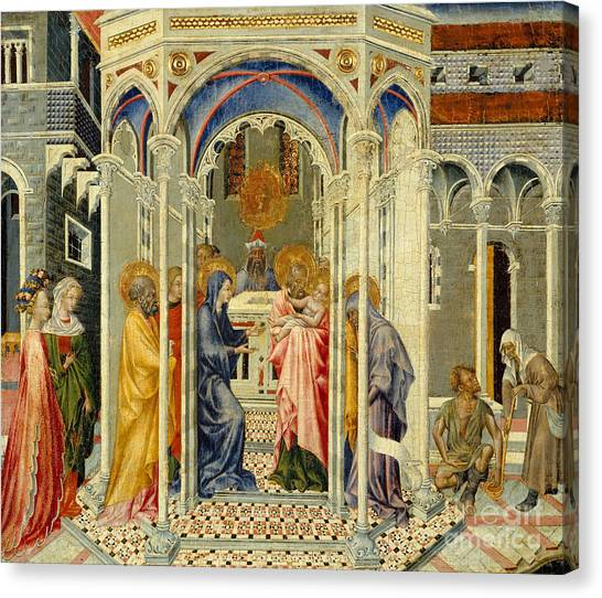 Presentations Canvas Print - The Presentation Of Christ In The Temple by Giovanni di Paolo di Grazia