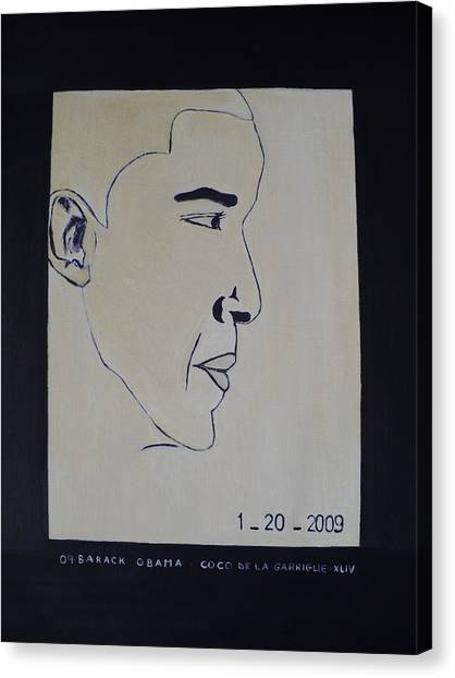 The President Barack Obama. Canvas Print by Bucher