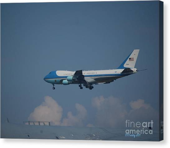 The President's Aircraft Canvas Print