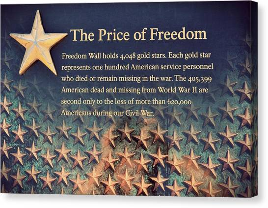 Franklin D. Roosevelt Canvas Print - The Price Of Freedom by Marianna Mills