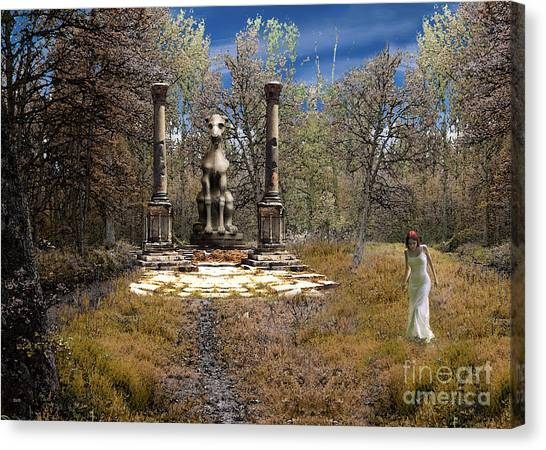 The Priestess Of The Dragon Canvas Print by The Hybryds