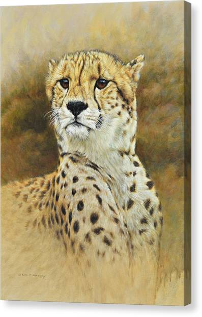 Canvas Print featuring the painting The Prince - Cheetah by Alan M Hunt