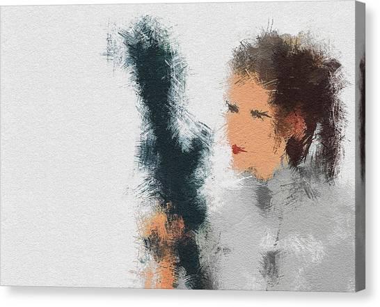 Leia Organa Canvas Print - The Princess by Miranda Sether