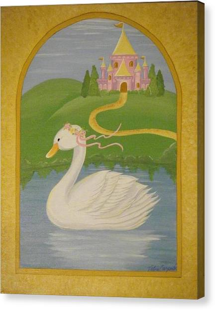 The Princess Swan Canvas Print