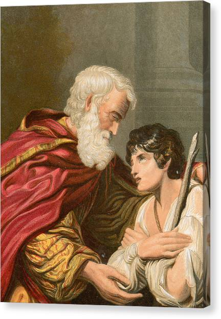 Father And Son Canvas Print - The Prodigal Son by Lionello Spada