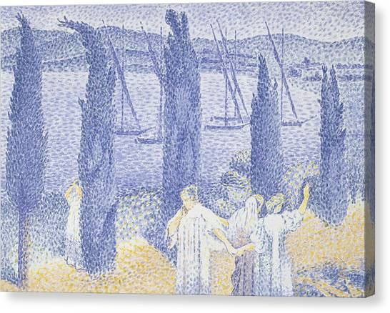Divisionism Canvas Print - The Promenade by Henri-Edmond Cross