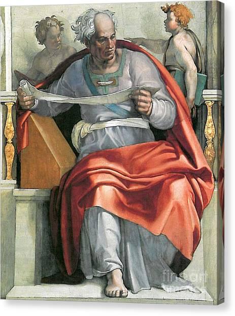 Michelangelo Simoni Canvas Print - The Prophet Joel by MotionAge Designs