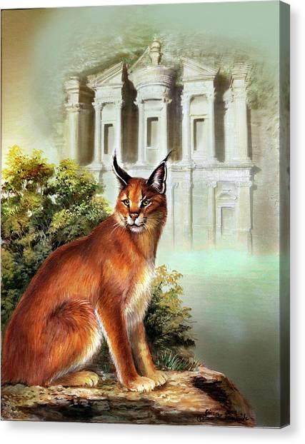 Gina Femrite Canvas Print - The Protector Of The City Of Petra by Regina Femrite