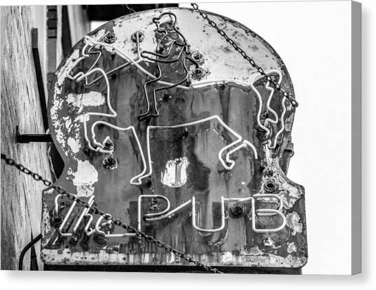 Urban Decay Canvas Print - The Pub by Todd Klassy