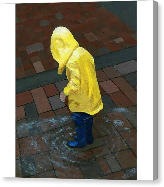 Seattle Canvas Print - The Puddle by Karyn Robinson