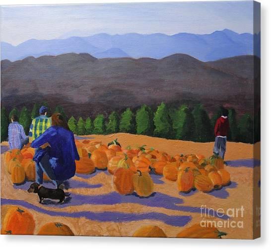 The Pumpkin Patch Canvas Print