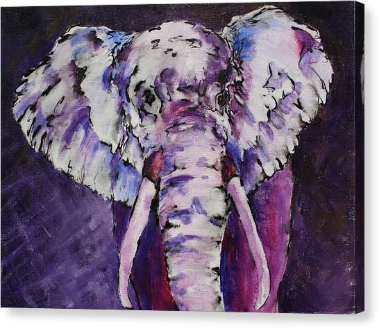 The Purple Bull Canvas Print