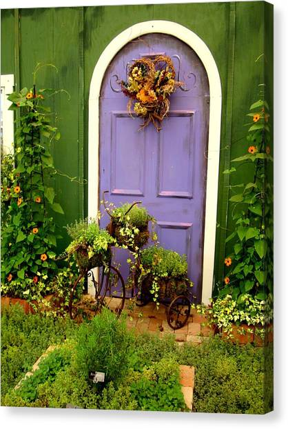 The Purple Door Canvas Print