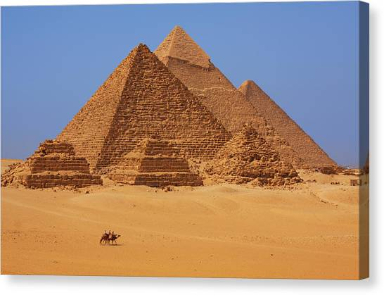 Pyramid Canvas Print - The Pyramids In Egypt by Dan Breckwoldt