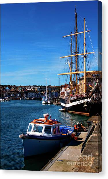 The Quayside  Canvas Print
